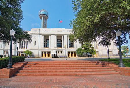 railroad station: The Dallas, Texas Union train railroad station, plaza, and Tower
