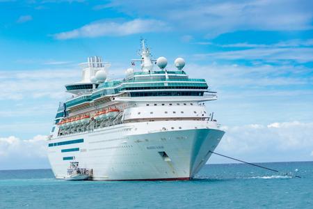 caribbeans: NASSAU, BAHAMAS - OCT 15, 2016: Royal Caribbeans Majesty of the Seas luxury cruise ship