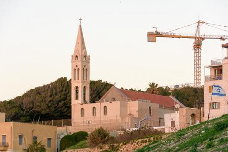 jaffo: TEL AVIV - MARCH 4, 2017: A church in the old city of Jaffa, Tel Aviv, Israel