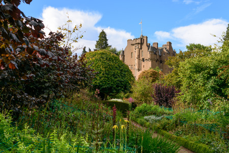 The historic Crathes Castle in the Grampians region of Northern Scotland near Aberdeen Stock Photo