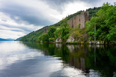 Historic Urquhart Castle on Loch Ness in the Scotland Highlands