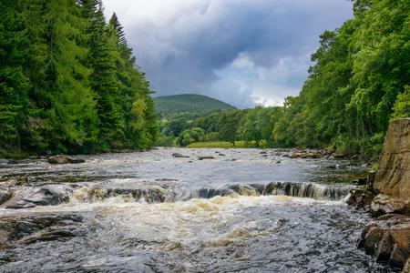 River Dee near Balmoral Castle in the Grampians region of Northern Scotland