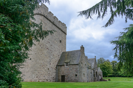 Historic Drum Castle in Northern Scotland near Aberdeen Stock Photo