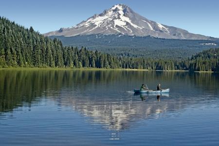 collins: Lake Collins at Mt  Hood Stock Photo