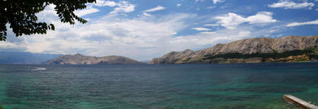 Panorama of Baska, Croatia
