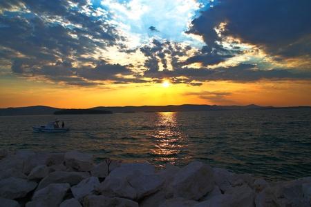 Sunset over Kornati islands, Croatia