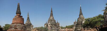 Towers of Ayuthaya, Thailand photo