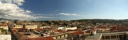 Roofs of Santiago de Cuba Stock Photo