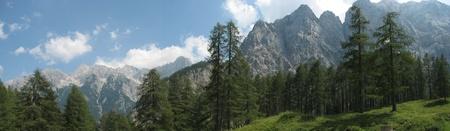 Slovenian alps panorama Stock Photo