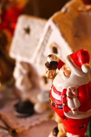 Santa figurine decor