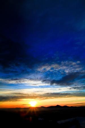 Beautiful sunrise sky