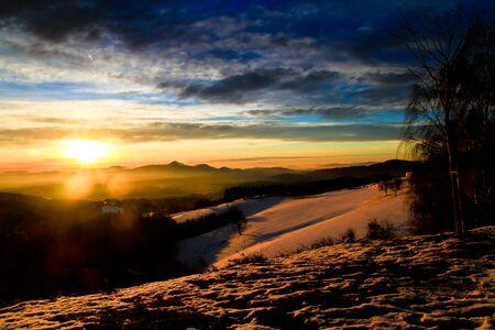Magical morning sunrise