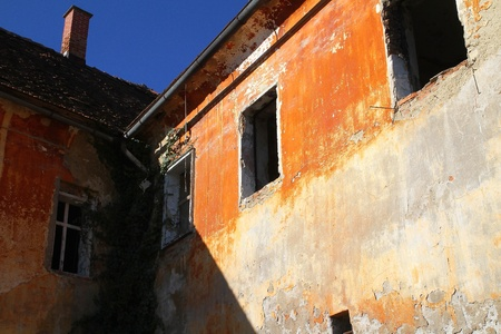 Worn out building