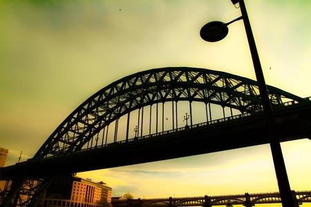 Dreamy scene of Newcastle bridge Stock Photo