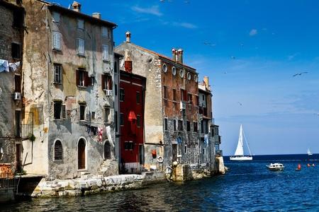 Old sea town buildings
