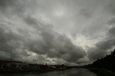 Sky over river