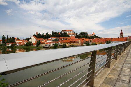 Ptuj over the bridge photo