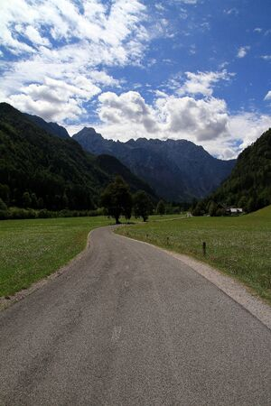 Entrance to beautiful valley photo