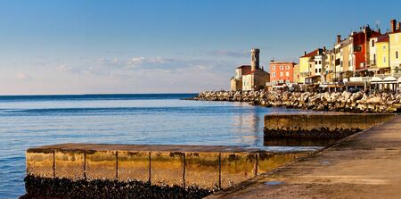 Piran panorama Stock Photo