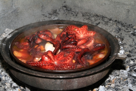 Traditional cooking of Croatia Stock Photo