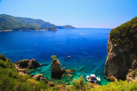 Scènes van Corfu, Griekenland