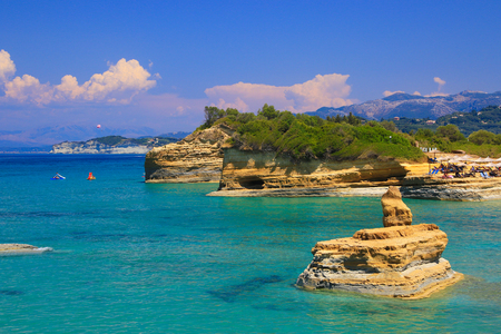 Scenes of Corfu Stock Photo