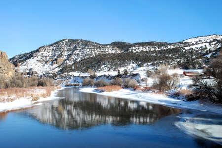 Colorado Winter Reflection photo