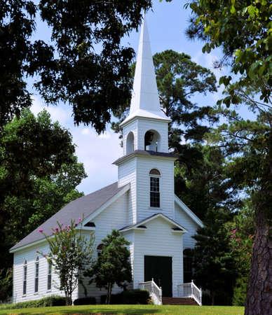 松の教会 写真素材