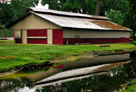 Barn Reflection photo