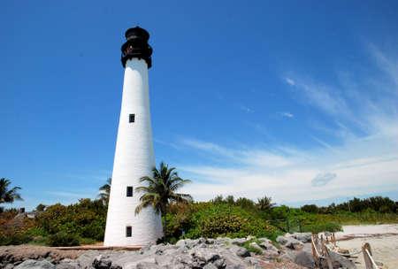 key biscane: Faro de Cabo Florida, Key Biscayne, Florida Foto de archivo