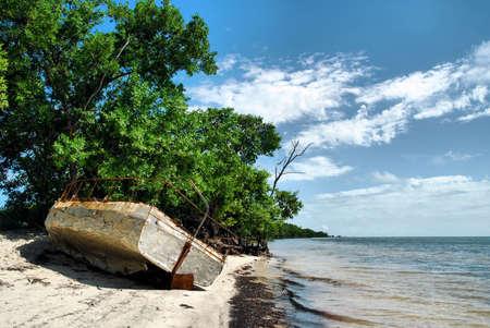 Immigrant Boot in de Florida Keys