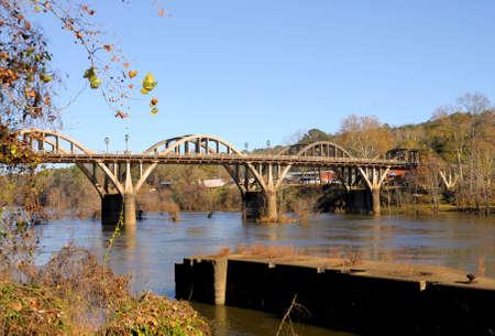 Bibb Graves Bridge over the Coosa River in Wetumpka, Alabama photo
