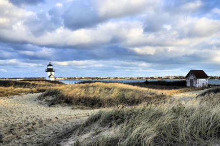 Brant Point Lighthouse on Nantucket Island, Massachusetts