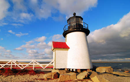 massachusetts: Brant Point Lighthouse on Nantucket Island, Massachusetts