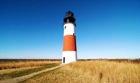 head light: Jefe de luz Sankaty en Nantucket, Massachusetts Island