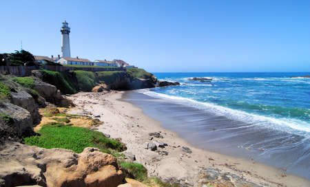 Pigeon Point Lighthouse south of San Francisco California