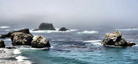 Coastal view from Big Sur in California Stok Fotoğraf