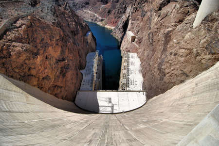 Views from the Hoover Dam in Nevada Stok Fotoğraf