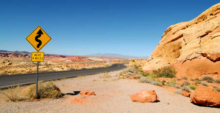 drive through: Drive through the Valley of Fire in Nevada