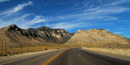 drive through: Views from a drive through Death Valley California Stock Photo