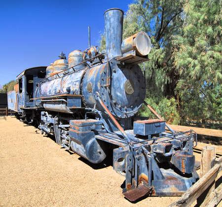borax: Old train in Death Valley California Stock Photo