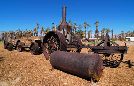 borax: Old Mule pulled train in Death Valley