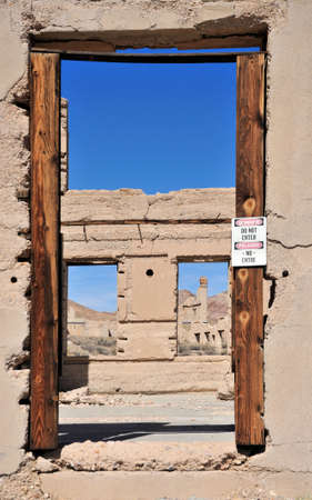 Ryholite ghost town in Nevada Imagens