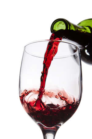 Pouring Red Wine in to Glass