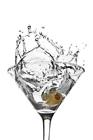 martini splash: Olive in Martini Splash