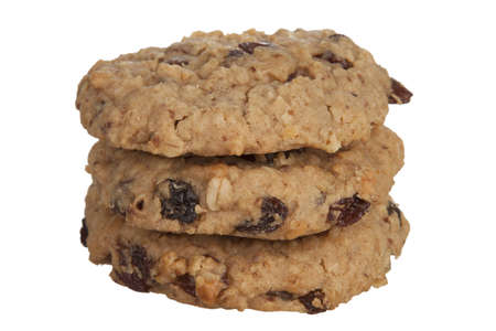 homemade cookies: Three Healthy Oatmeal Cookies  Stock Photo