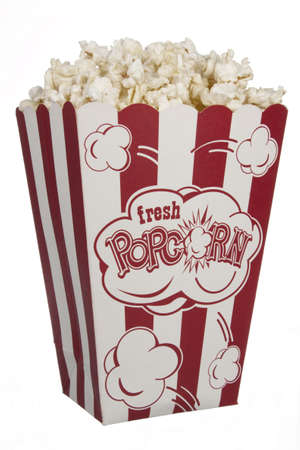 pop corn: Movie Popcorn Stock Photo
