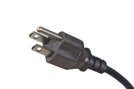 power cord: Electrical Plug 120 Volts on white background