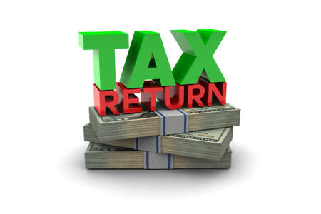 refund: Tax Return illustration isolated on white background
