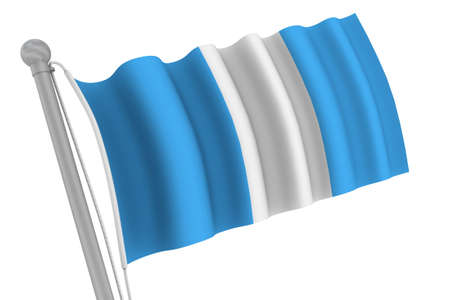 Guatemala Flag On Pole waving in the wind Stockfoto
